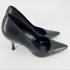 Pedro Garcia Black leather heels